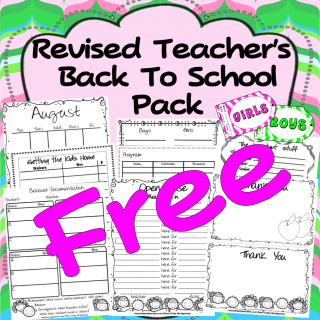FREE Teacher's Back to School Pack l 32 pages of forms to help you manage and organize your classroom!
