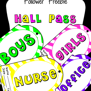 Hall Pass Follower Freebies l Every Day is the Weekend!