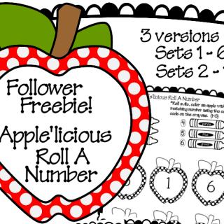 Apple'licious Roll a Number Follower Freebie