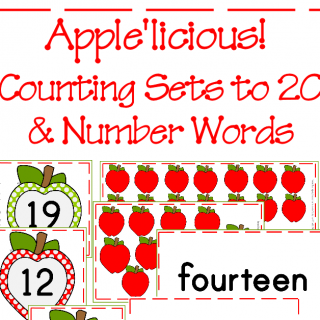 Apple'licious Counting Sets & Number Words to 20