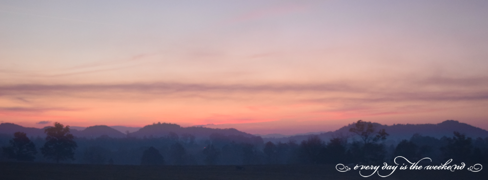 Destination: Jonesborough, TN sun rising over the mountains