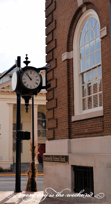 Vintage Street Clock l Destination: Greeneville, TN
