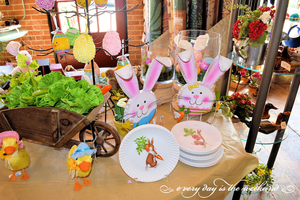 bunny plates at Old Bay Mercantile l Destination: Fairhope, AL