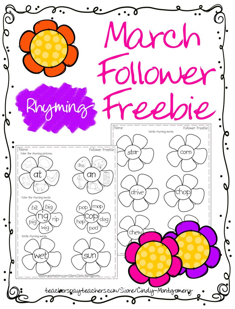 March Rhyming Follower Freebie
