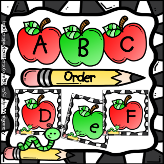 Apples ABC Order Printables