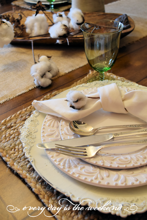 Southern Style Bunco place setting