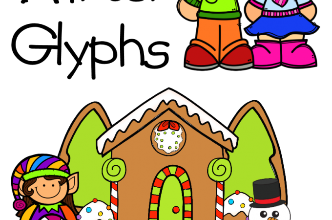K-2 Winter Glyphs: Elf, Gingerbread House, Snow People, Best Friends