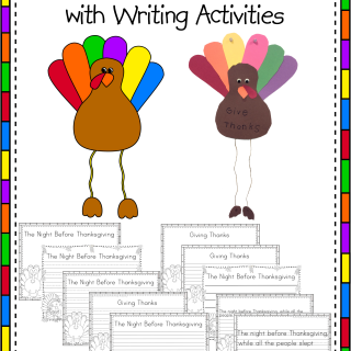 Thanksgiving Turkey Craft with Writing Activities