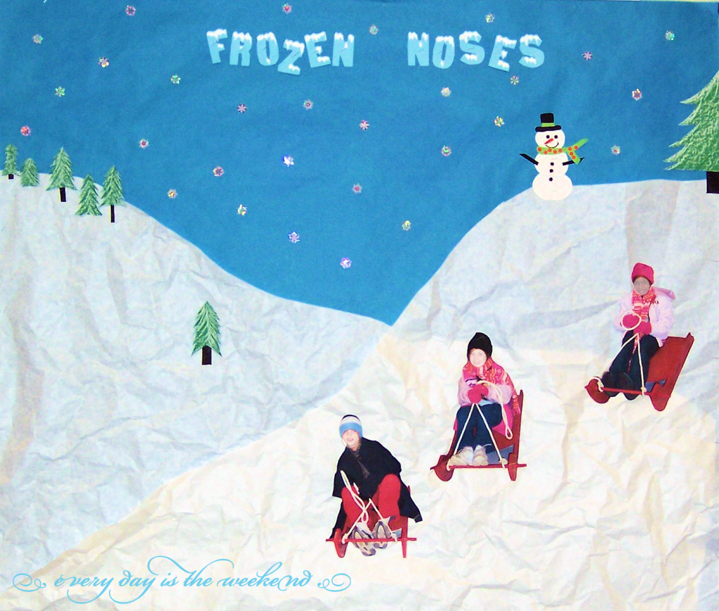 Frozen Noses Winter Bulletin Board